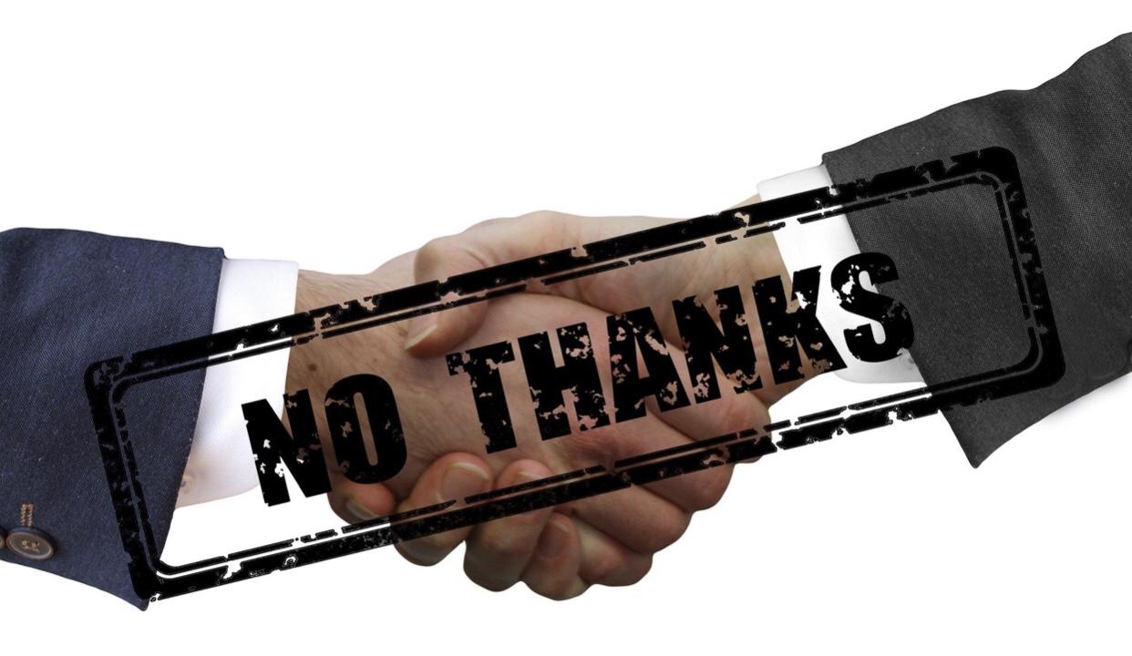 Do not shake hand